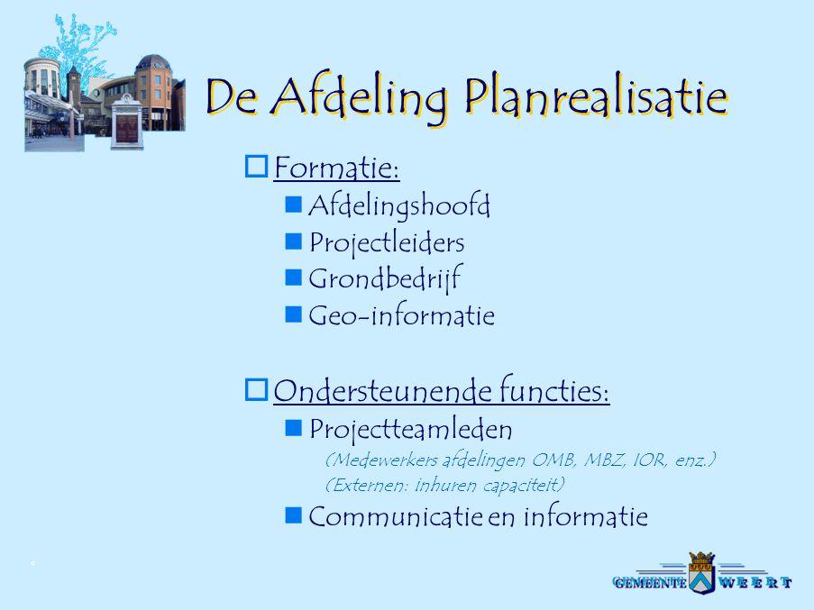 De Afdeling Planrealisatie