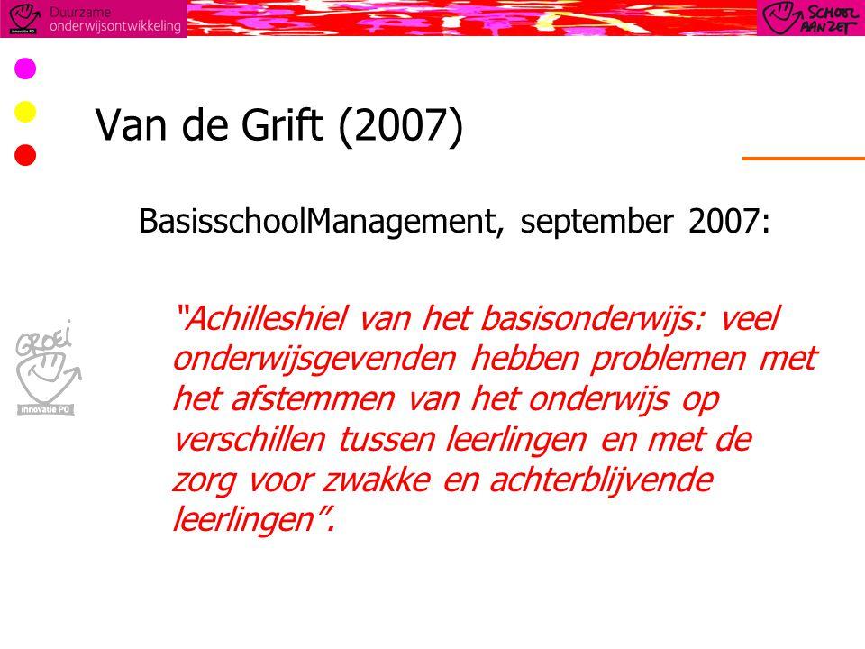 Van de Grift (2007) BasisschoolManagement, september 2007: