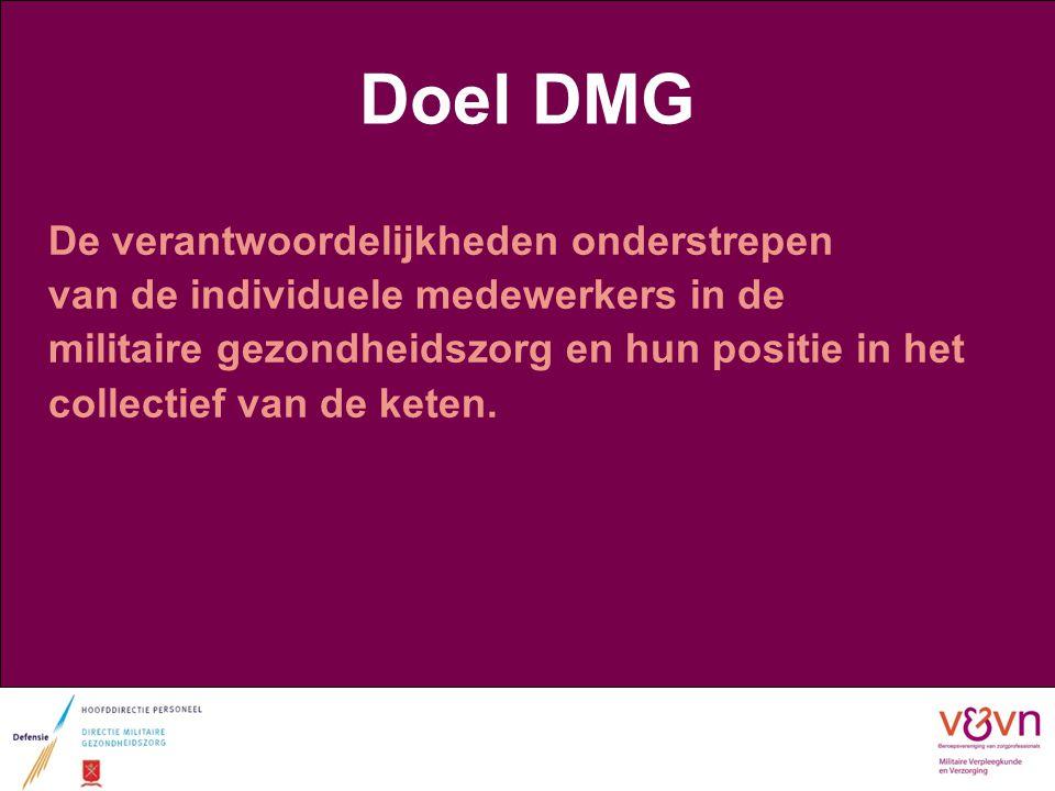 Doel DMG De verantwoordelijkheden onderstrepen