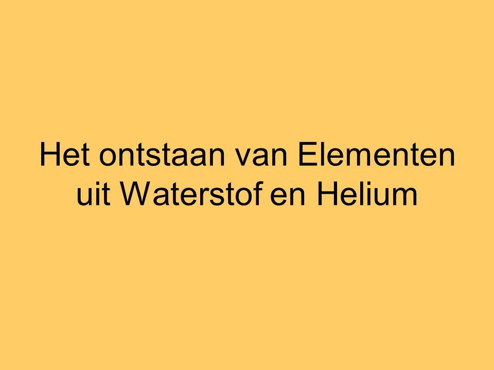 Het ontstaan van Elementen uit Waterstof en Helium