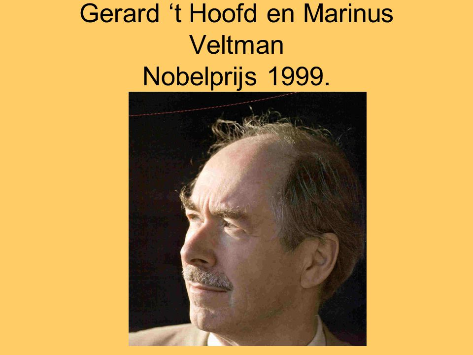 Gerard 't Hoofd en Marinus Veltman Nobelprijs 1999.