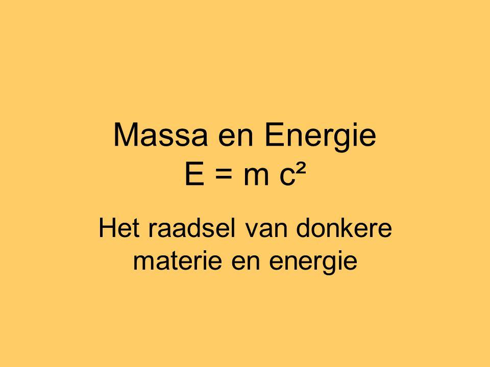 Het raadsel van donkere materie en energie