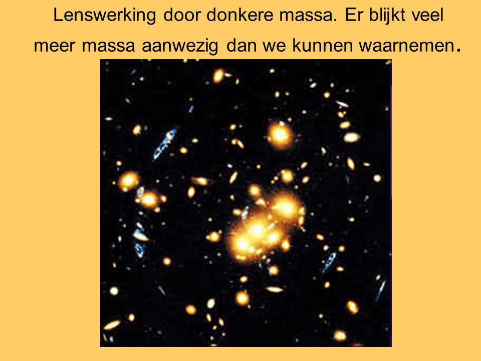 Lenswerking door donkere massa