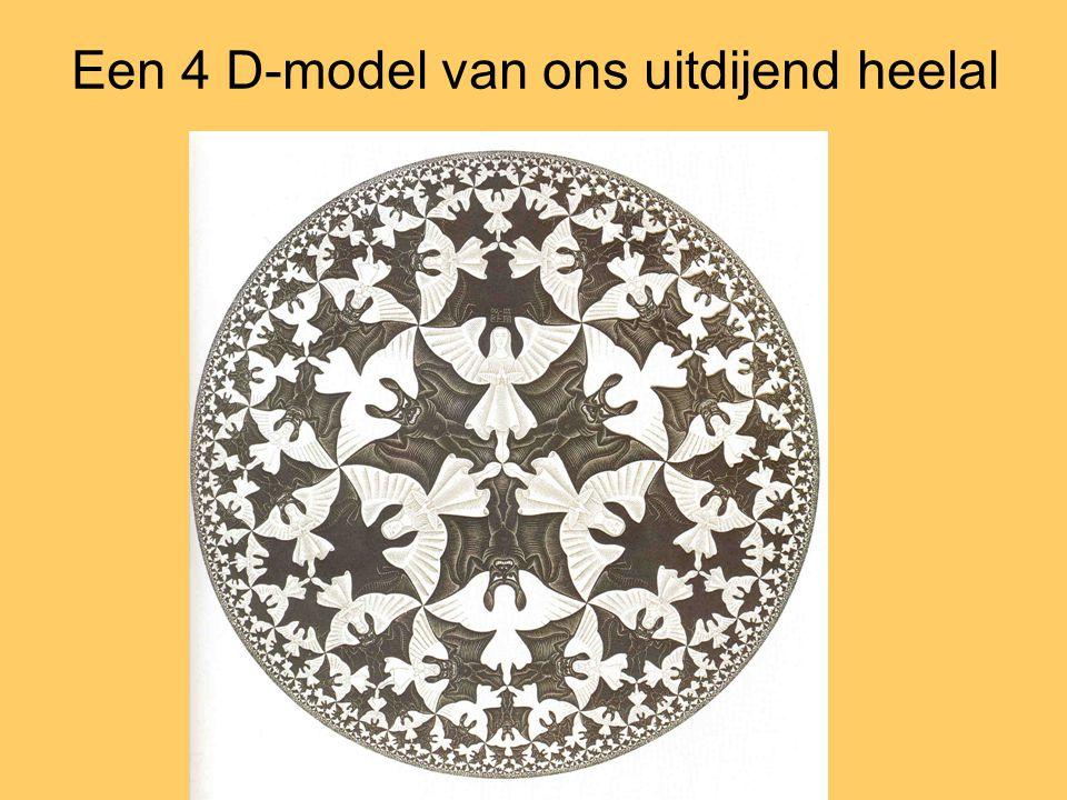 Een 4 D-model van ons uitdijend heelal