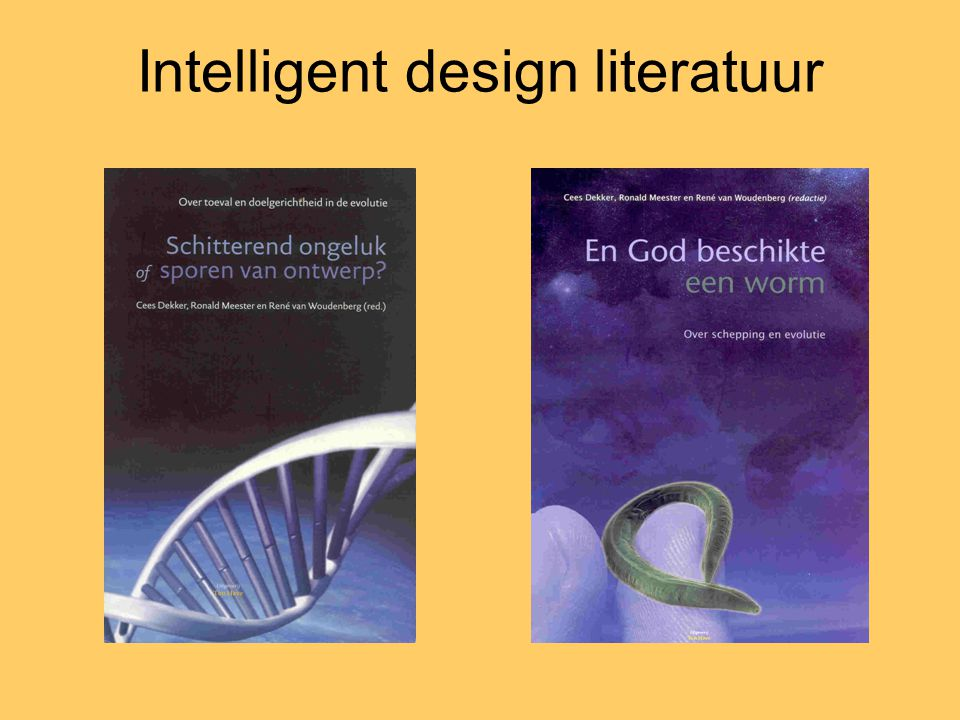 Intelligent design literatuur