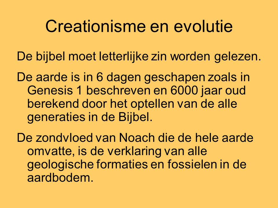 Creationisme en evolutie