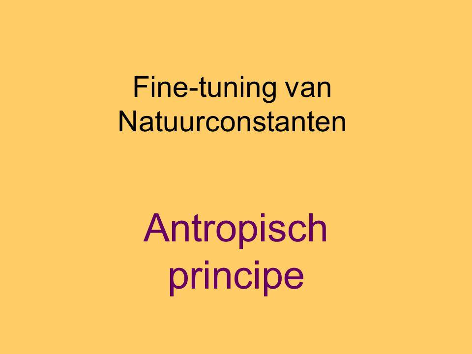 Fine-tuning van Natuurconstanten
