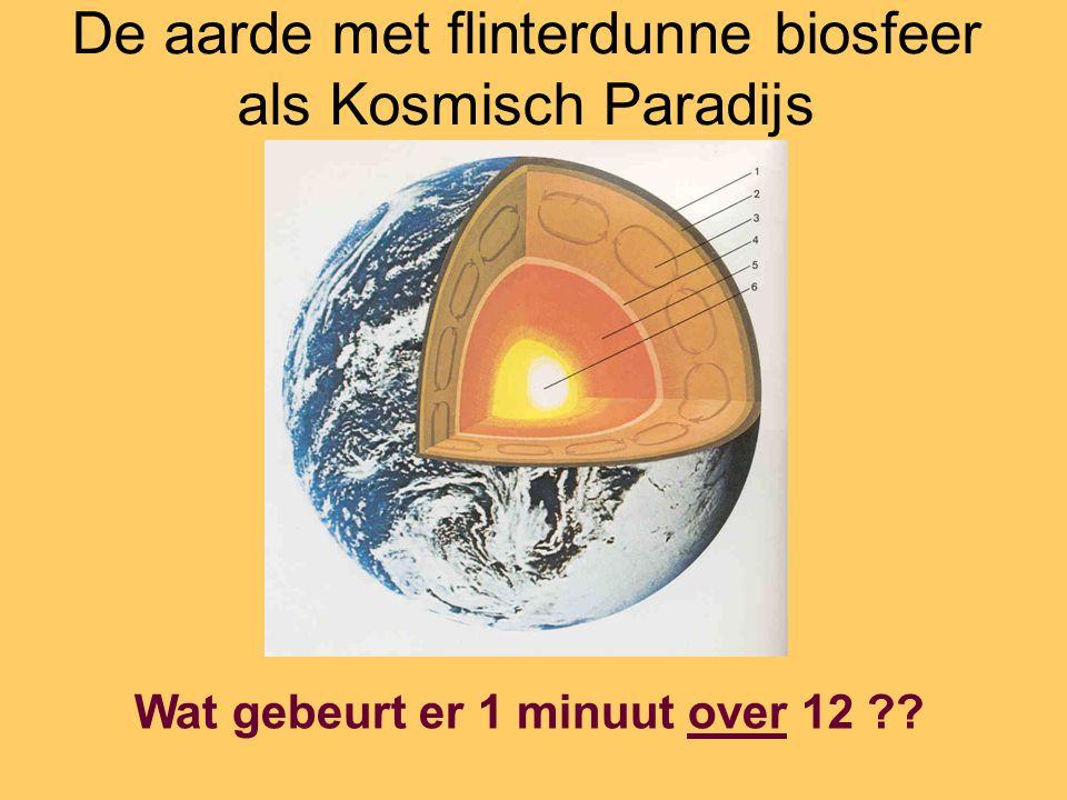 De aarde met flinterdunne biosfeer als Kosmisch Paradijs