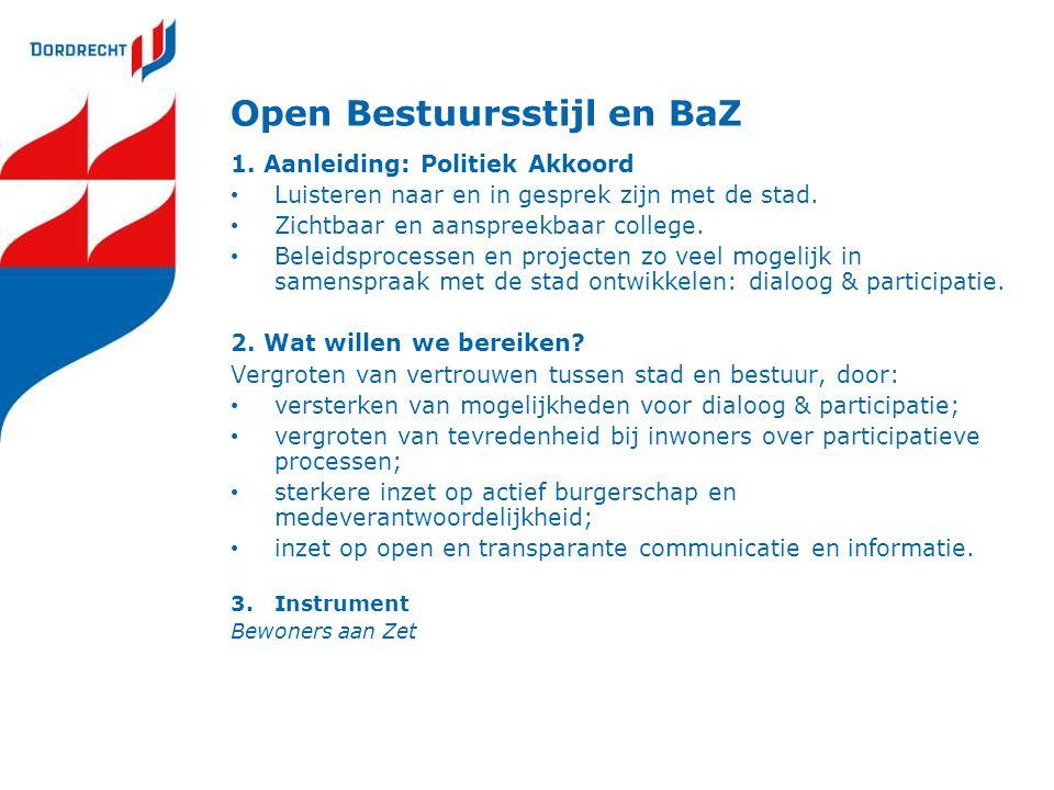 Open Bestuursstijl en BaZ
