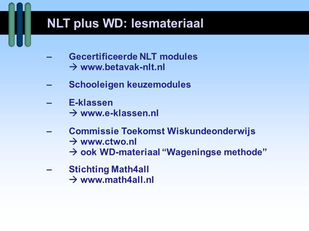NLT plus WD: lesmateriaal