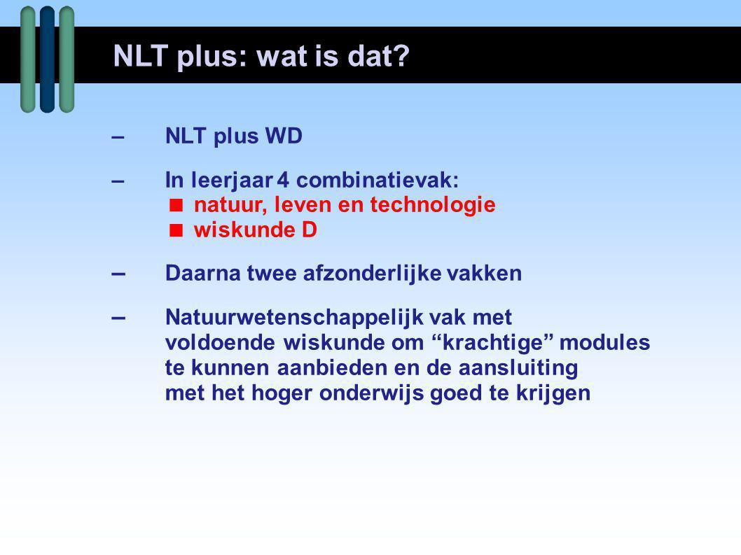 NLT plus: wat is dat – Daarna twee afzonderlijke vakken