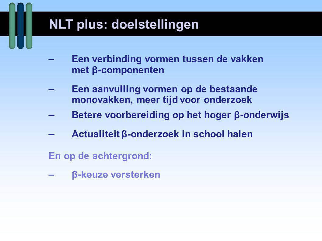 NLT plus: doelstellingen