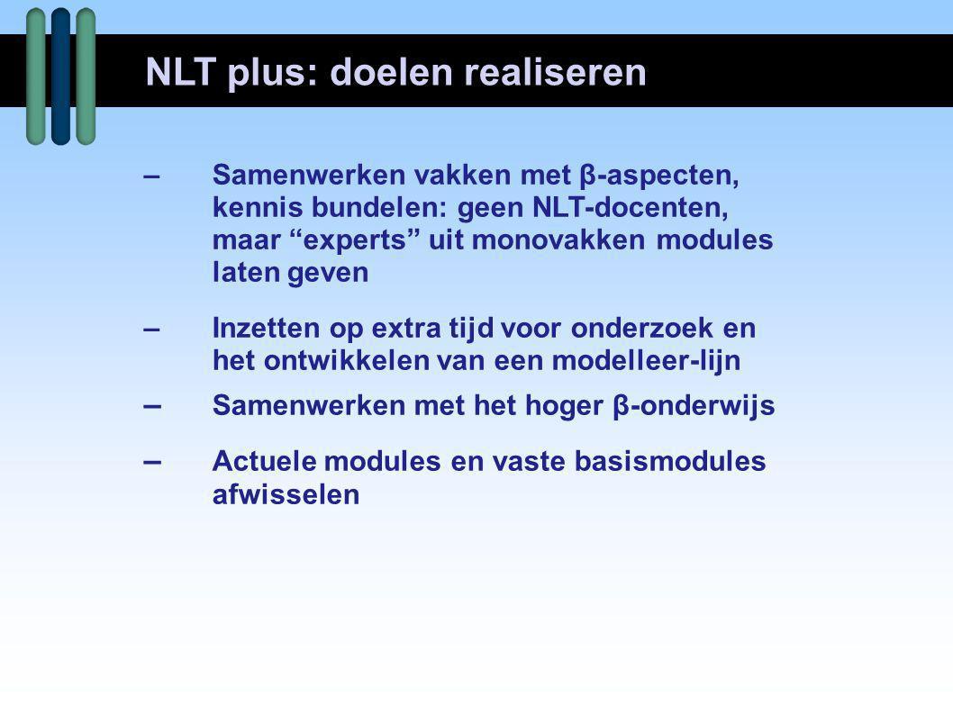 NLT plus: doelen realiseren