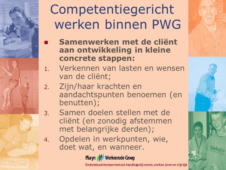 Competentiegericht werken binnen PWG