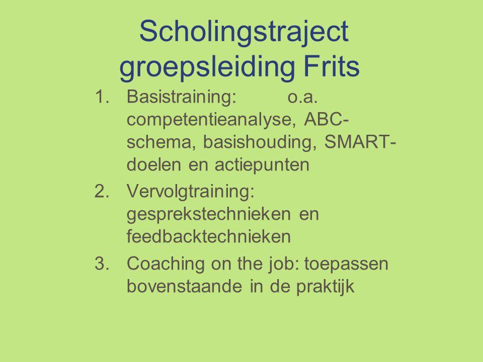 Scholingstraject groepsleiding Frits