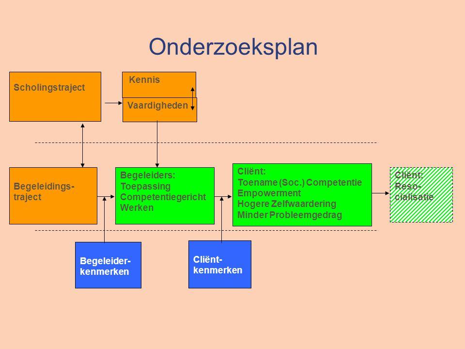Onderzoeksplan Scholingstraject Vaardigheden Cliënt: