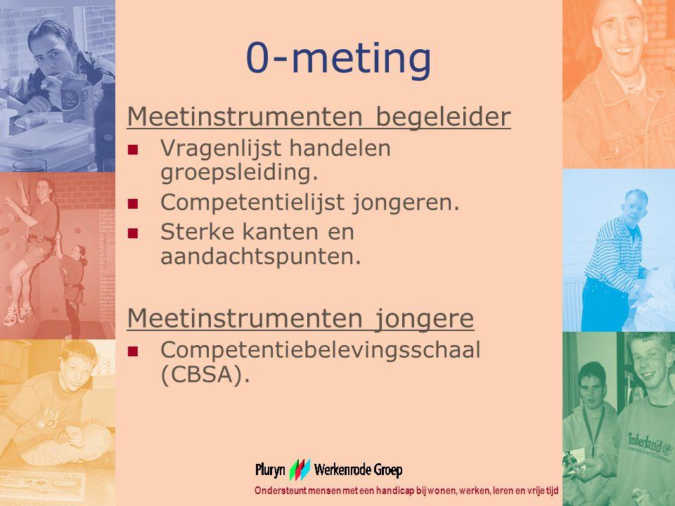 0-meting Meetinstrumenten begeleider Meetinstrumenten jongere