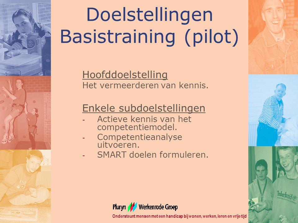 Doelstellingen Basistraining (pilot)