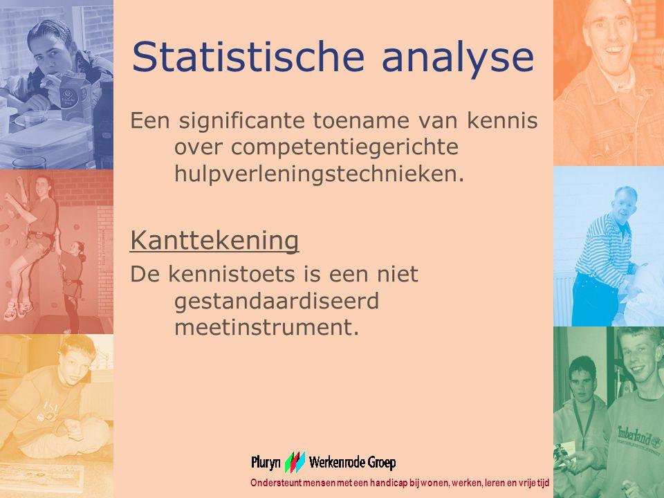 Statistische analyse Kanttekening