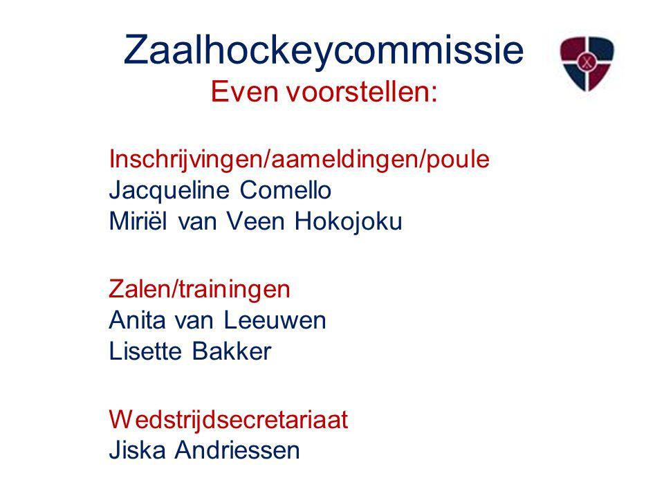 Zaalhockeycommissie Even voorstellen: