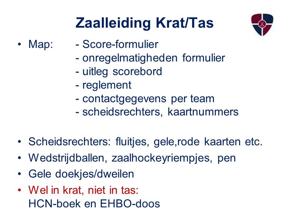 Zaalleiding Krat/Tas