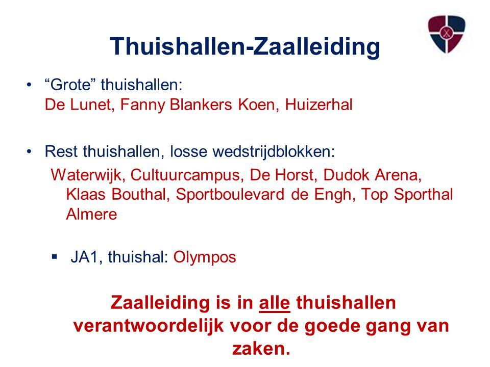 Thuishallen-Zaalleiding
