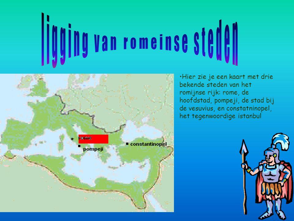 ligging van romeinse steden