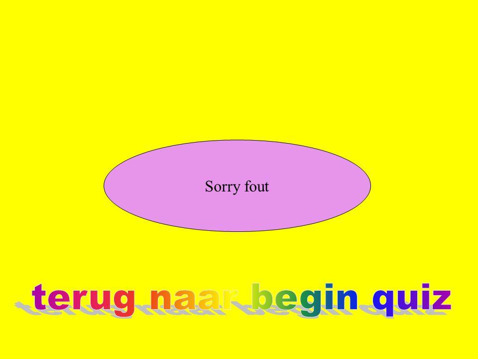 Sorry fout terug naar begin quiz