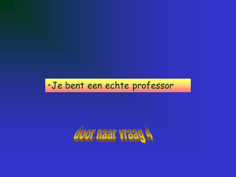 Je bent een echte professor