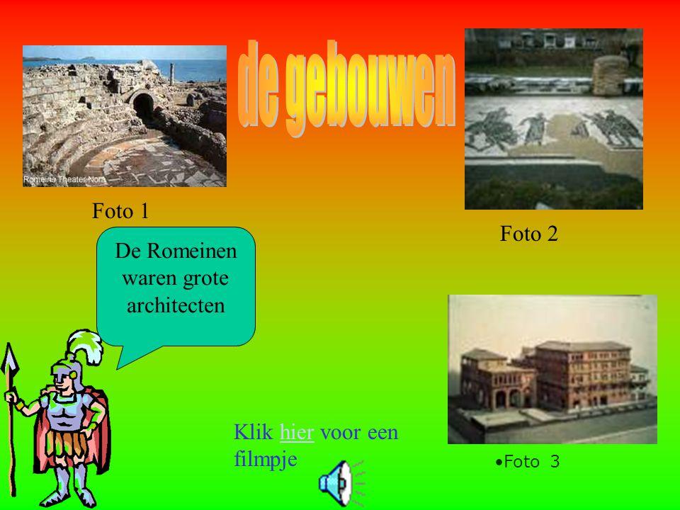 De Romeinen waren grote architecten