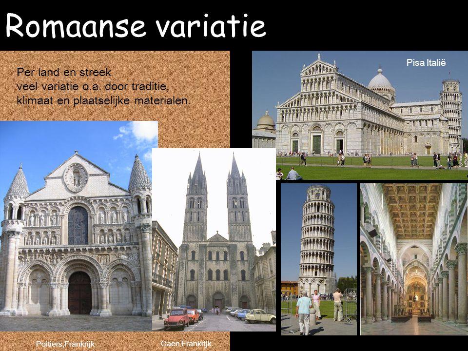 Romaanse variatie Per land en streek