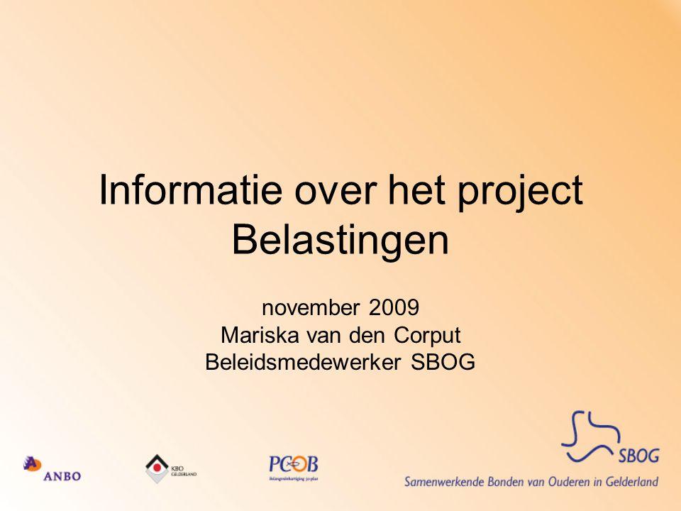 Informatie over het project Belastingen