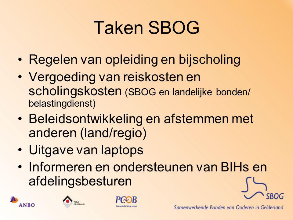 Taken SBOG Regelen van opleiding en bijscholing