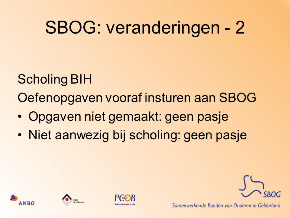 SBOG: veranderingen - 2 Scholing BIH