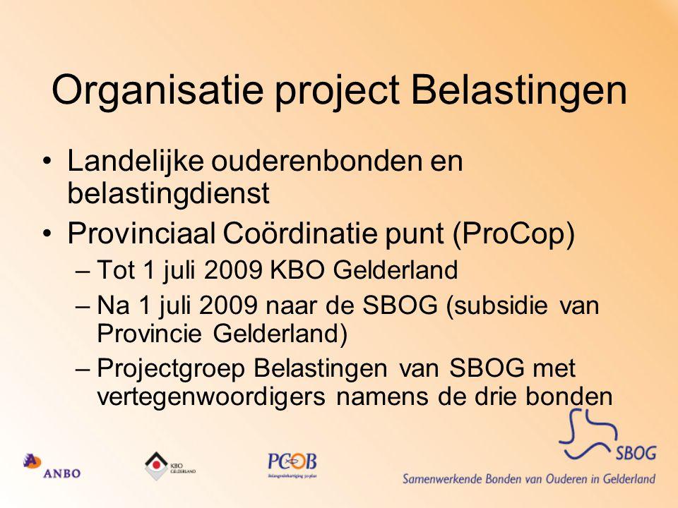 Organisatie project Belastingen