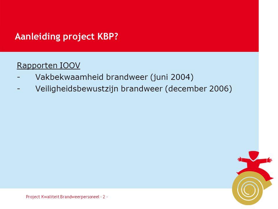 Aanleiding project KBP