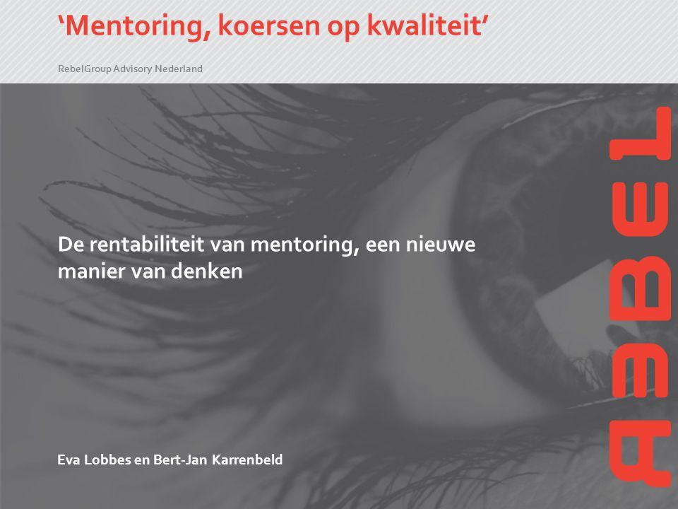 'Mentoring, koersen op kwaliteit'