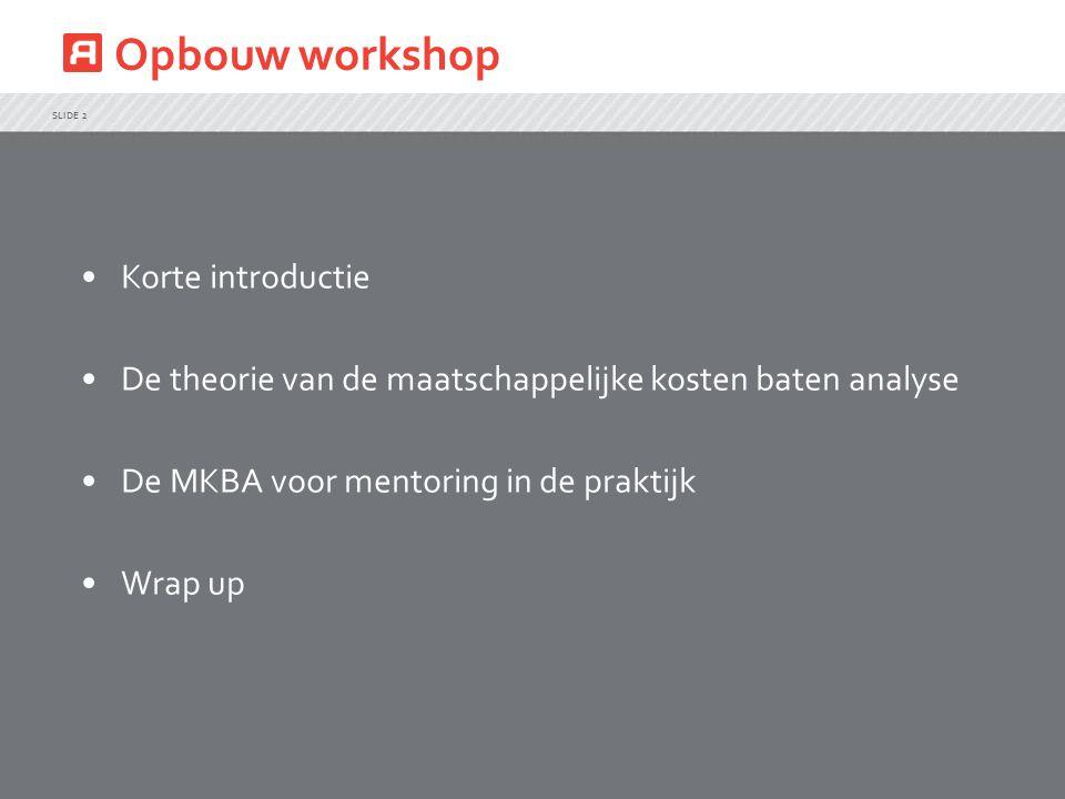 Opbouw workshop Korte introductie