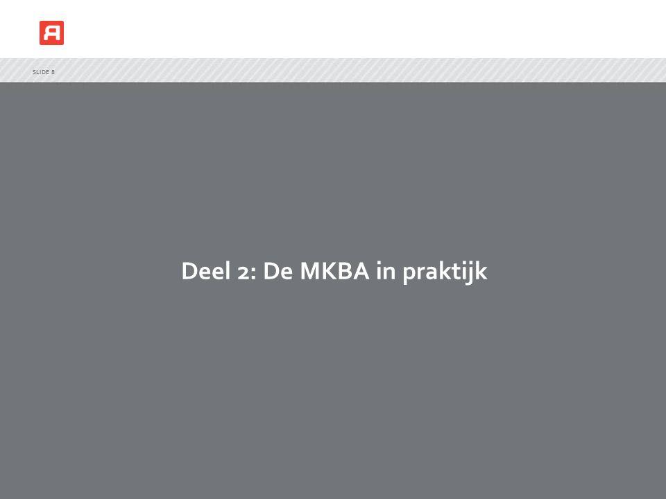 Deel 2: De MKBA in praktijk