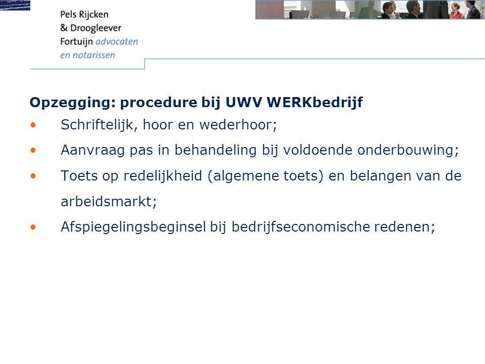 Opzegging: procedure bij UWV WERKbedrijf