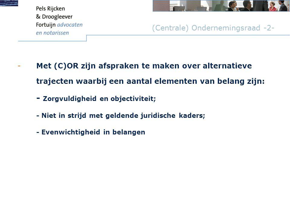 (Centrale) Ondernemingsraad -2-