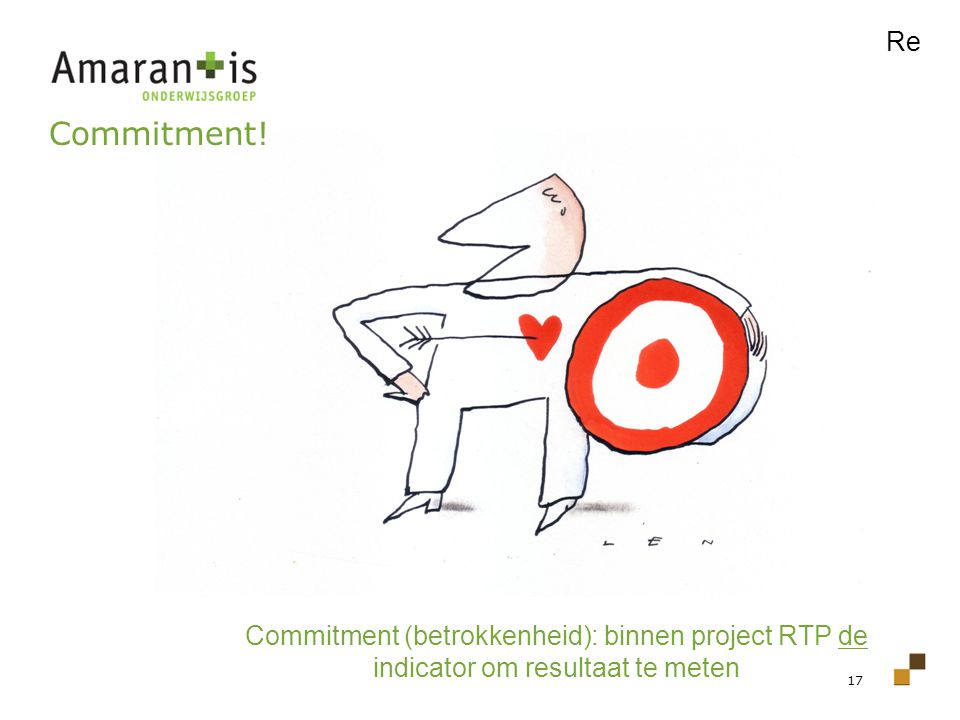 Re Commitment! Commitment (betrokkenheid): binnen project RTP de indicator om resultaat te meten