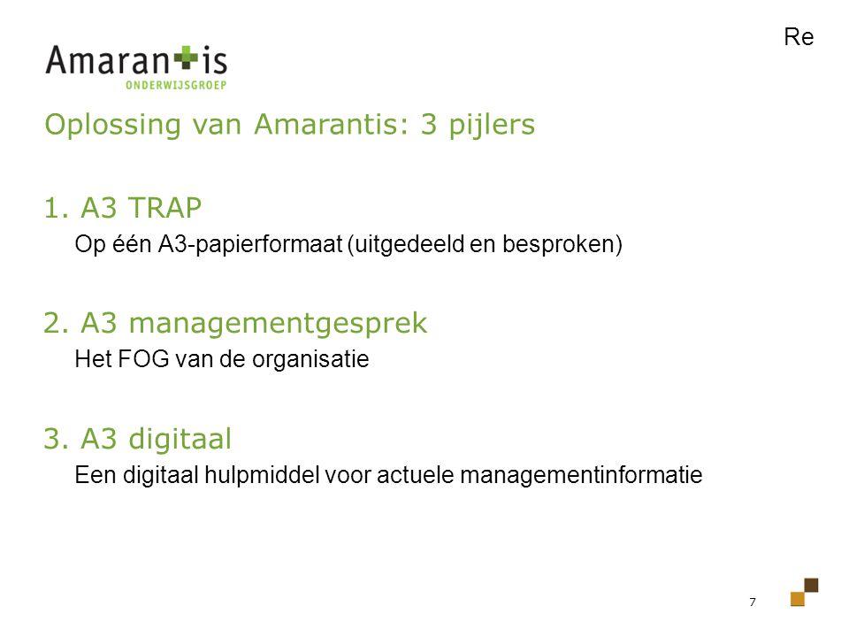 Oplossing van Amarantis: 3 pijlers