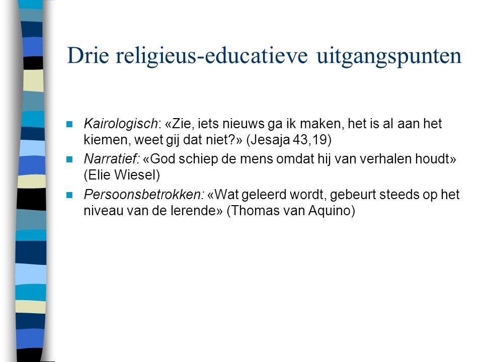 Drie religieus-educatieve uitgangspunten