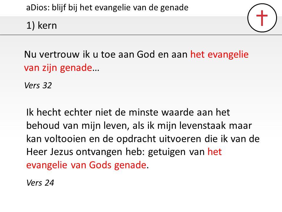 Nu vertrouw ik u toe aan God en aan het evangelie van zijn genade…