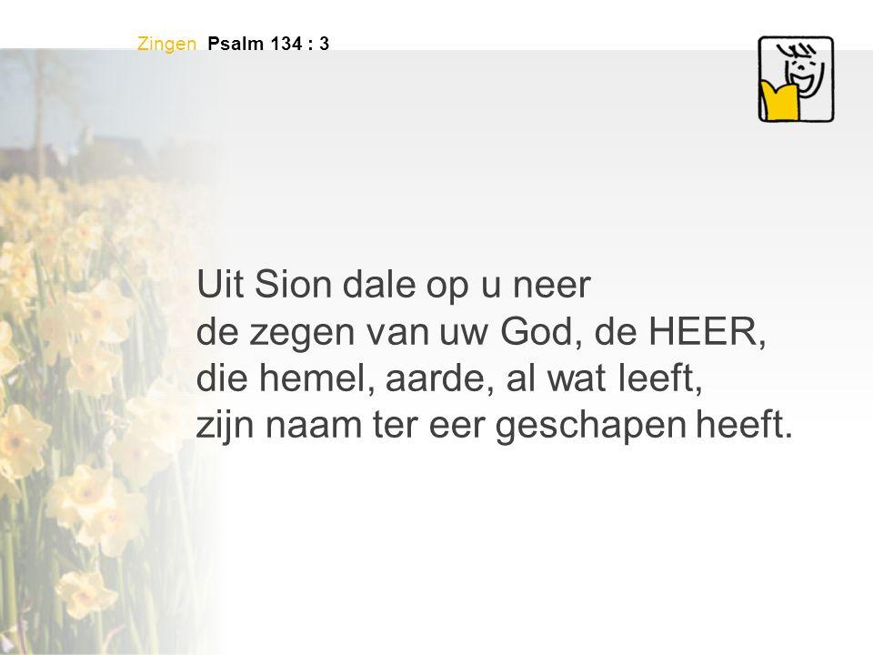 de zegen van uw God, de HEER, die hemel, aarde, al wat leeft,