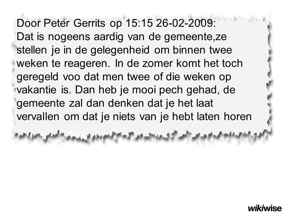 Door Peter Gerrits op 15:15 26-02-2009: