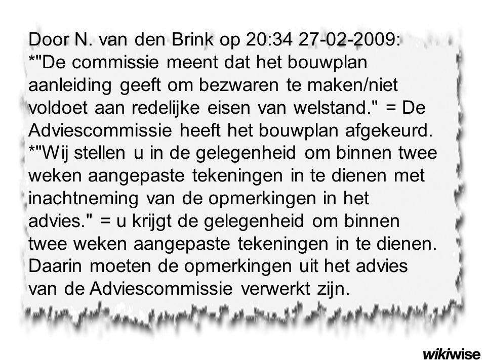 Door N. van den Brink op 20:34 27-02-2009: