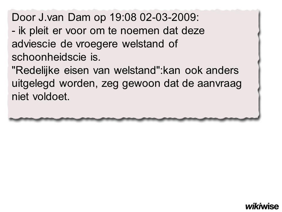 Door J.van Dam op 19:08 02-03-2009: