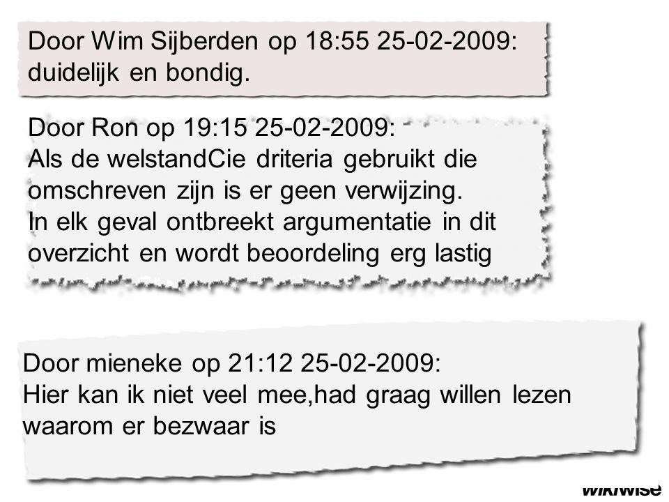 Door Wim Sijberden op 18:55 25-02-2009: